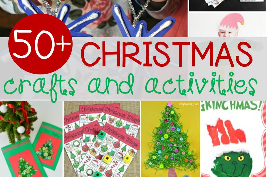 Over 50 kids' Christmas crafts and activities!