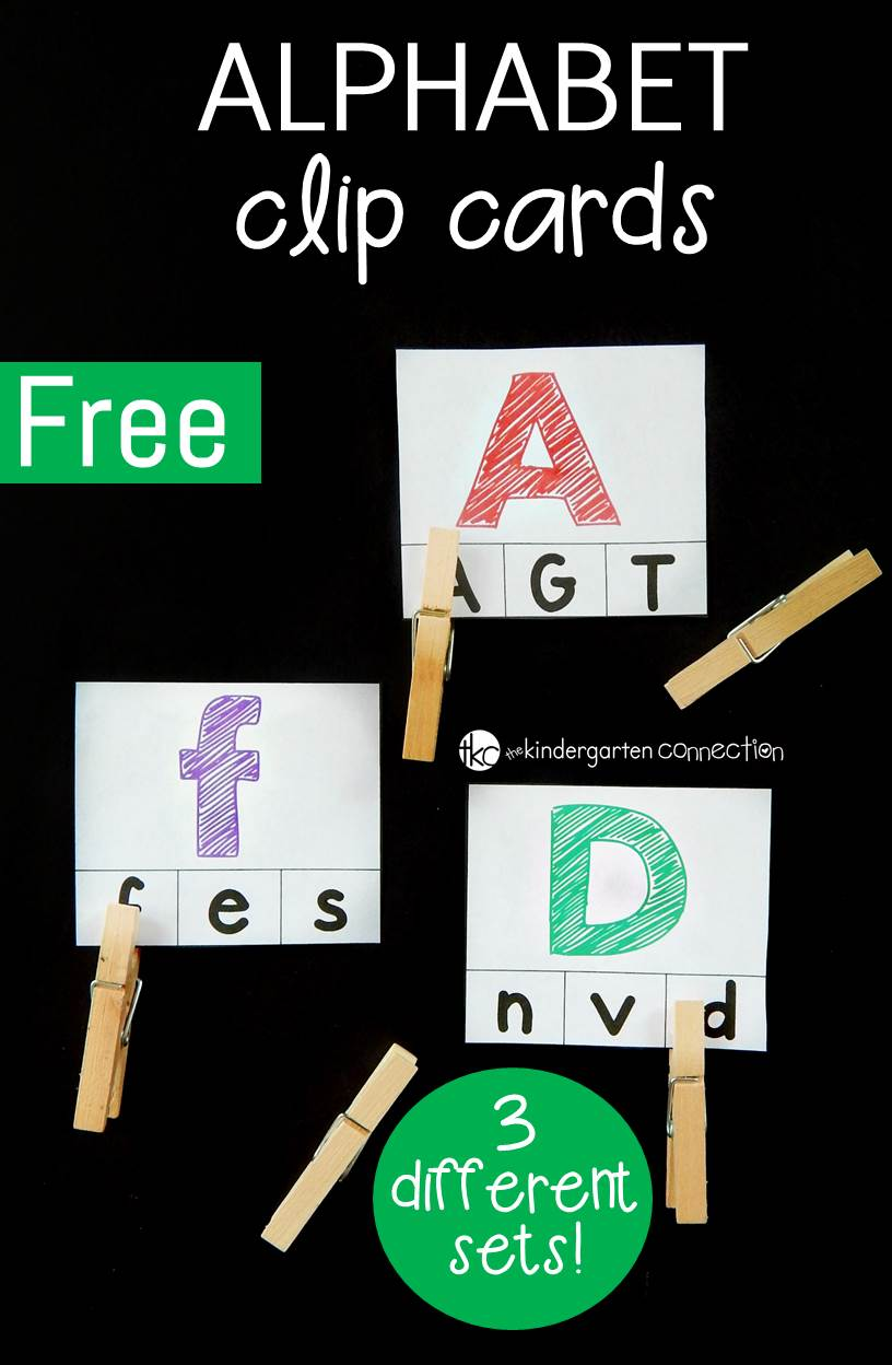 These alphabet clip cards are so fun for preschoolers and kindergarteners to work on learning their letters and on building fine motor skills too!