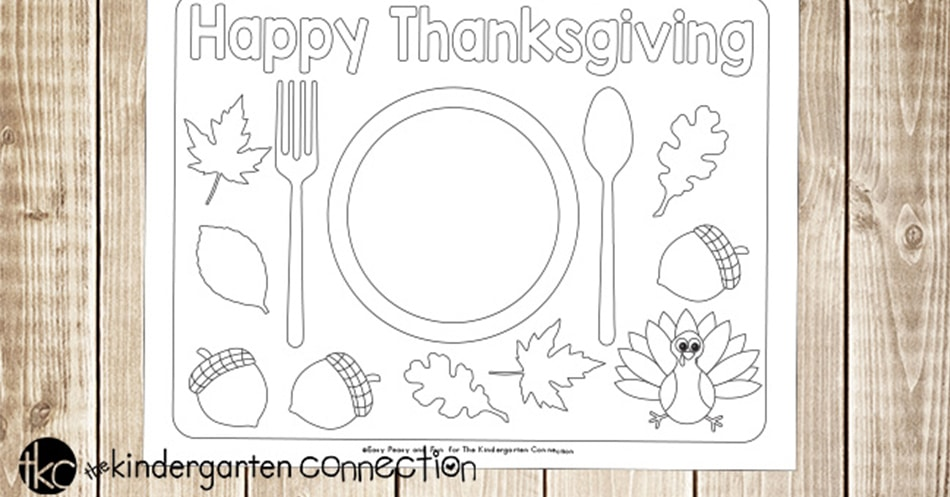 photo about Printable Thanksgiving Placemat identify Enjoyment Printable Thanksgiving Placemats