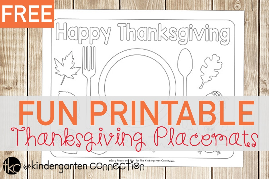 picture about Free Printable Thanksgiving Placemats named Entertaining Printable Thanksgiving Placemats