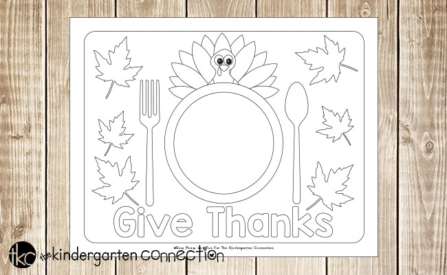 Kid Crafts Thanksgiving Place Mats