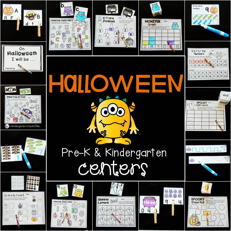 Halloween centers for Pre-K and Kindergarten