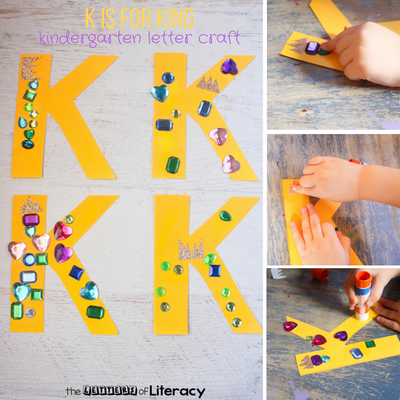 k is for king letter k craft kindergarten letter crafts. Black Bedroom Furniture Sets. Home Design Ideas