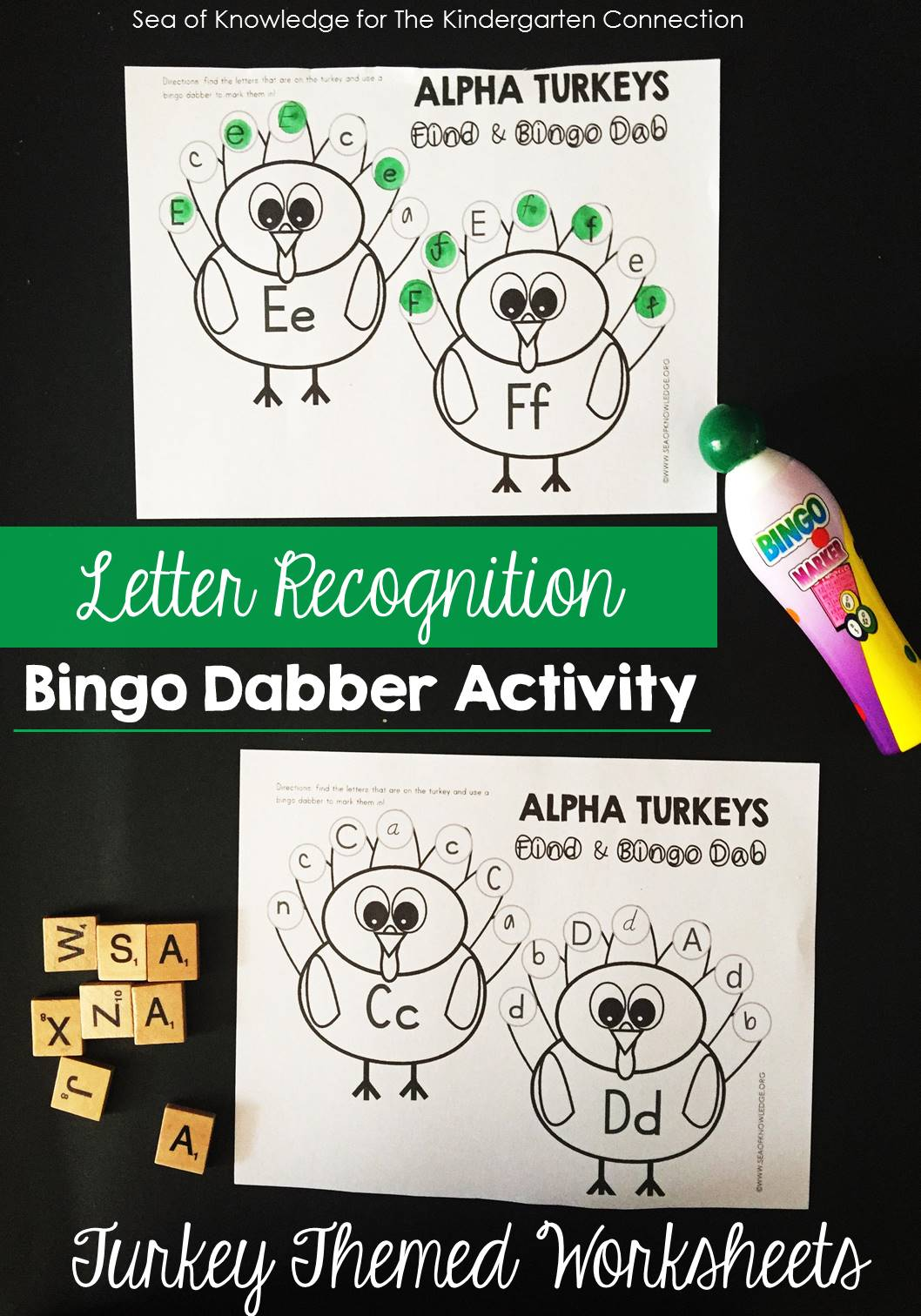 Turkey Letter Recognition Activity - The Kindergarten Connection