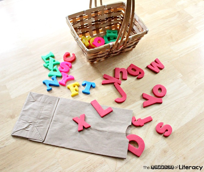 Letter Recognition Grab Bag Activity with FREE Printables