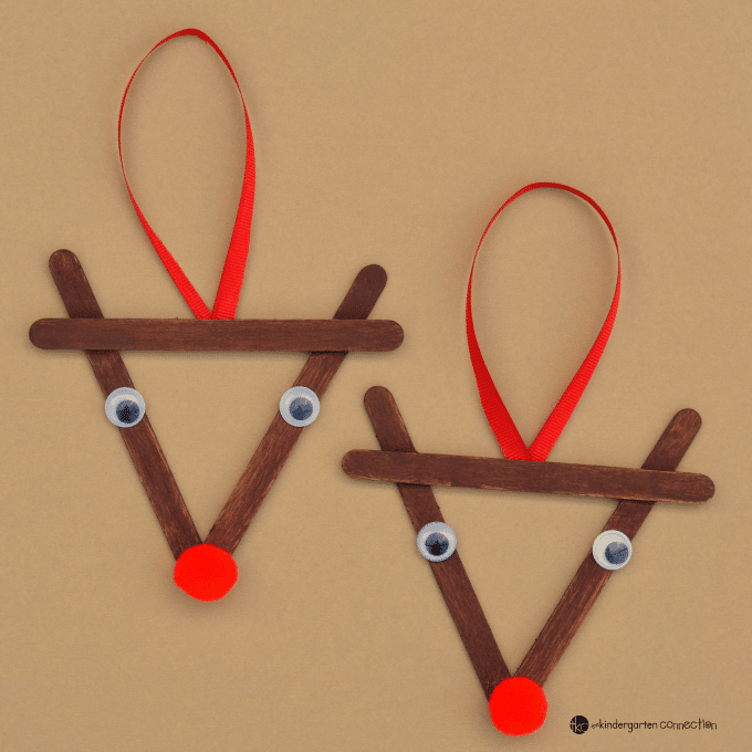 Christmas Crafts Popsicle Sticks Reindeer