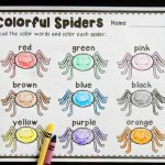 Color Word Spiders