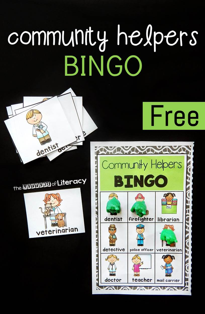 Community Helpers Bingo