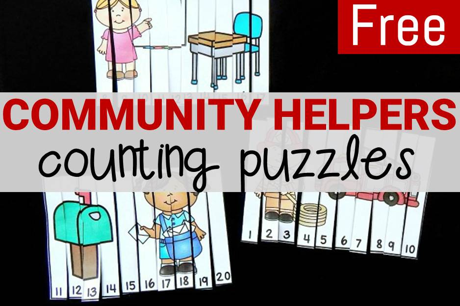 Community Helpers Counting Puzzles