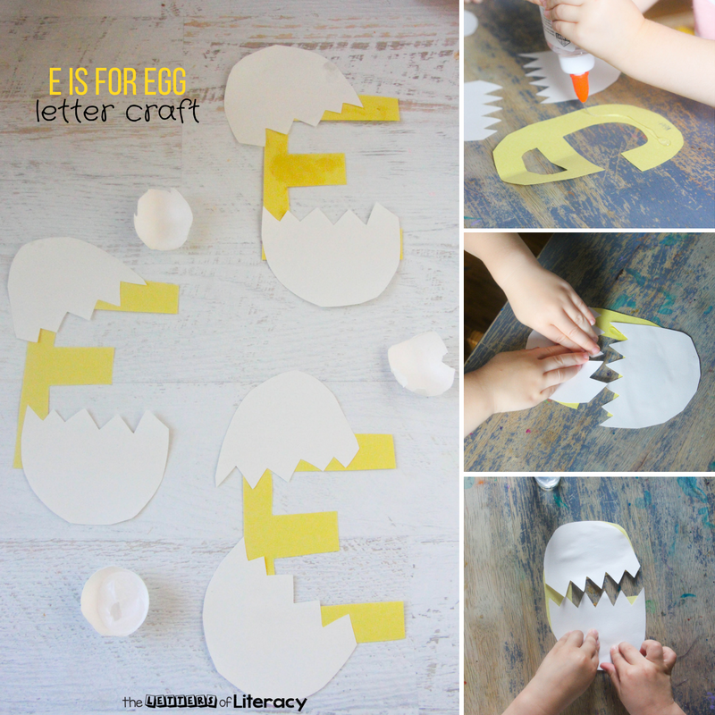 For the next installment of our Kindergarten Letter Crafts, today we're sharing our Letter E Craft - E is for Egg!