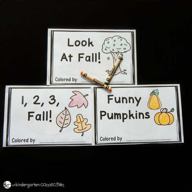 Fall Emergent Readers for Kindergarten