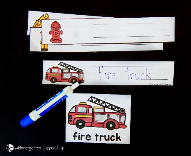 These fire safety writing centers are such a FUN, engaging way to teach fire safety for kids in the classroom or at home.