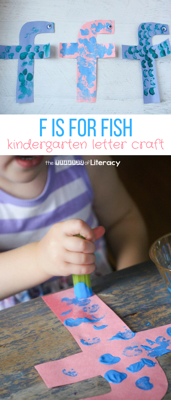 My kids are loving our kindergarten letter crafts series and today we're sharing a letter F craft - F is for Fish - an easy letter craft for kids!