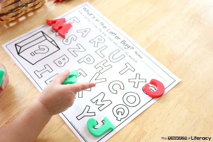 image regarding Letter Recognition Games Printable identified as Letter Popularity Get Bag with Absolutely free Alphabet Printable