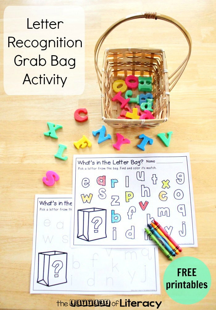 picture relating to Letter Recognition Games Printable known as Letter Acceptance Get Bag with No cost Alphabet Printable