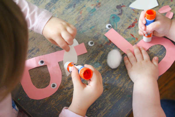 Create this B is for Bunny letter B craft for kindergarten. These alphabet letter crafts can help grow fine motor skills while learning letter skills.