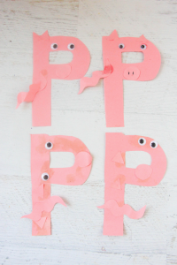 My kids love doing letter craft projects as part of our rounded approach to learning the alphabet. This P is for Pig seemed like the perfect Letter P Craft.