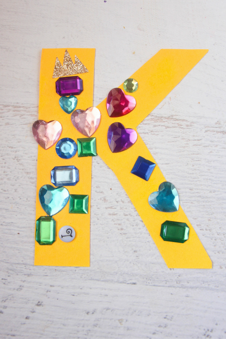 With my kids dressing up like royals almost every day, here is our letter K craft, K is for King for our letter crafts series.