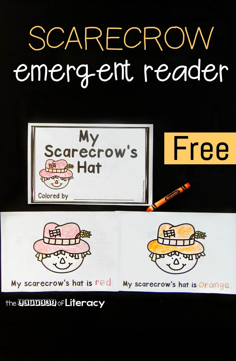 This scarecrow emergent reader is a great fall activity for kids! It is fun for beginning readers to work on sight words, color words, and print tracking.