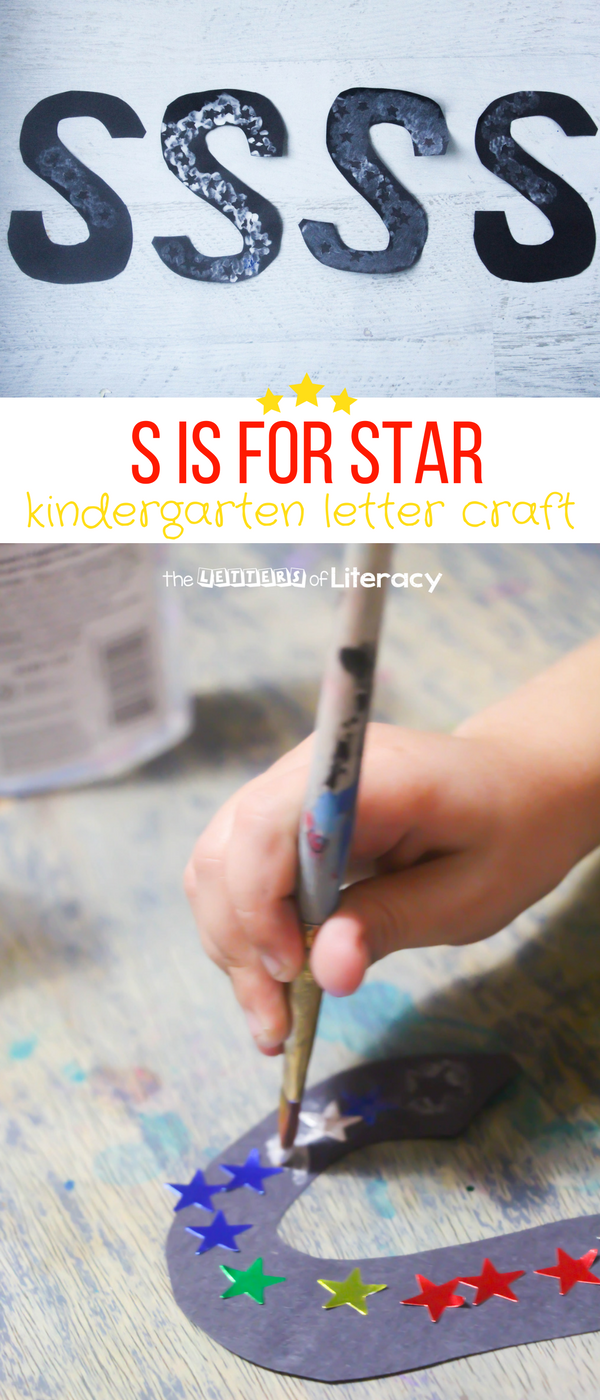 "Kids of all ages are curious about the stars, the moon and the sun. Create your own ""starry"" S is for Star Letter S Craft as part of our Kindergarten Letter Craft series."