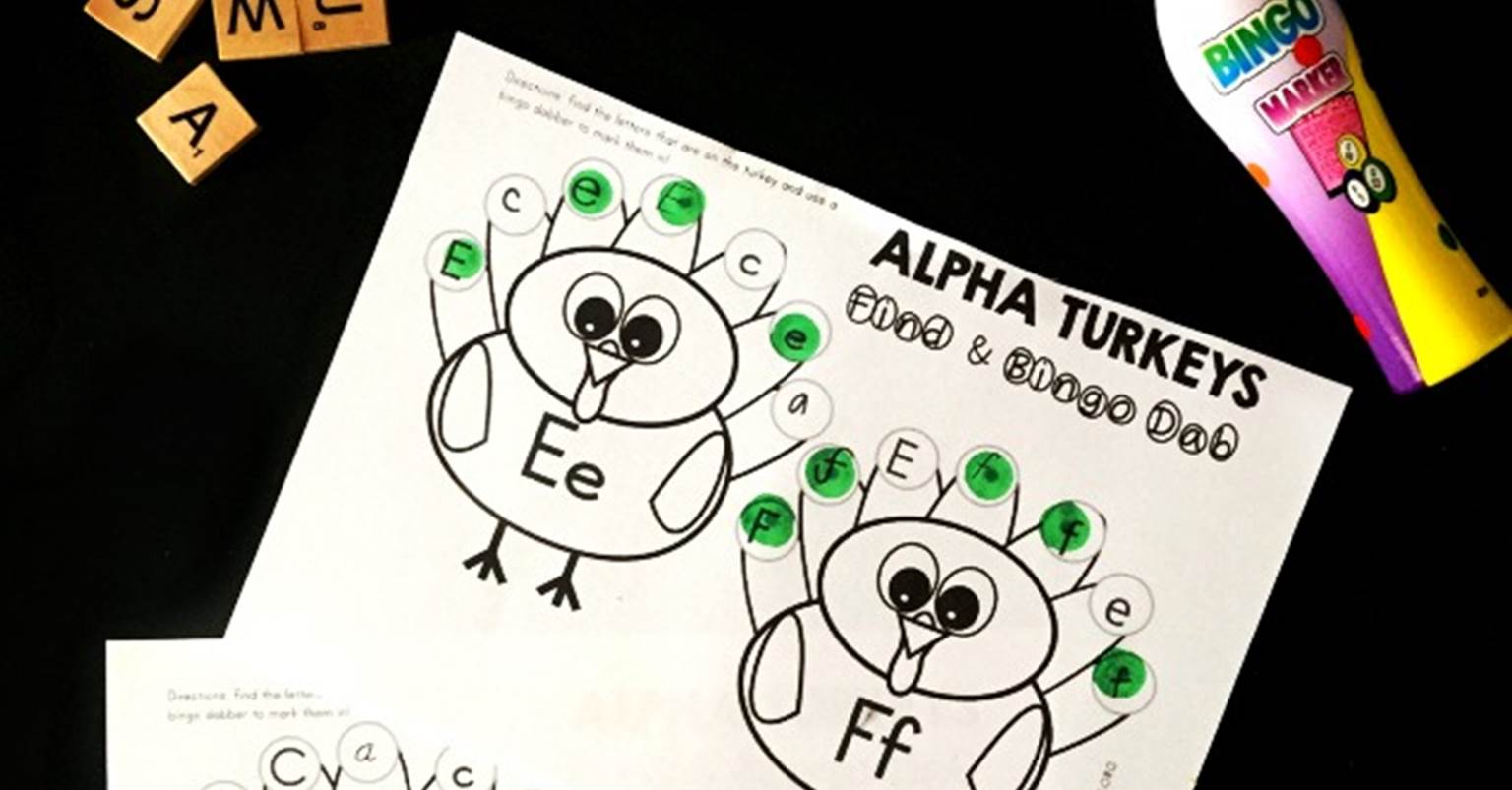 Turkey Letter Recognition Activity  The Kindergarten Connection