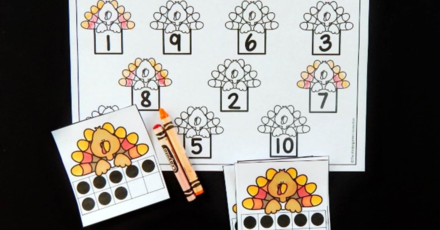 Workbooks ten frame worksheets printables : Turkey Ten Frame Math Game - The Kindergarten Connection
