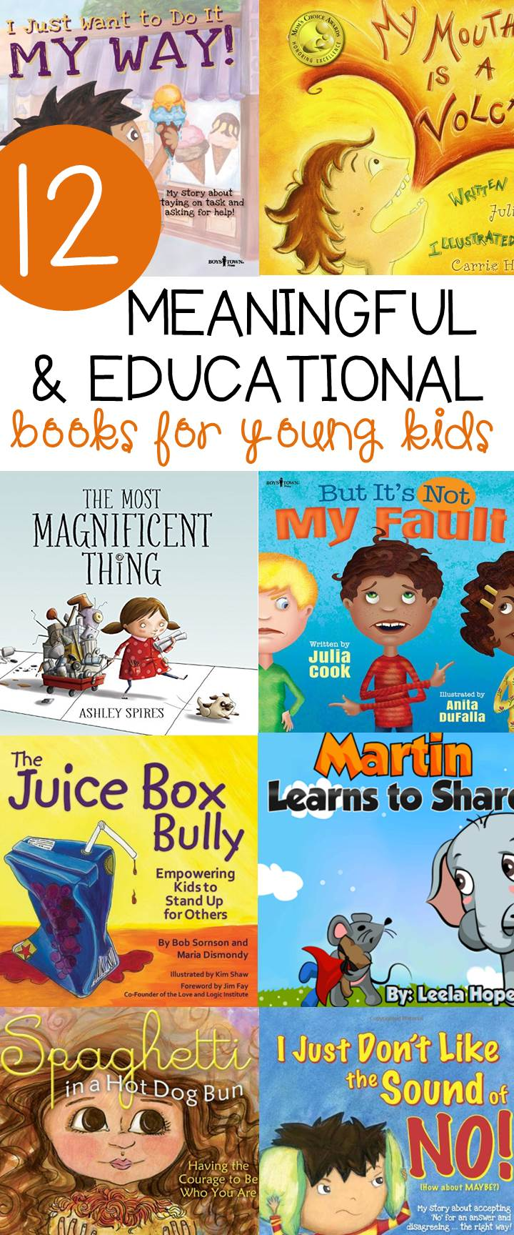 This list of meaningful and educational books for kids make great read alouds for teaching social skills, manners, and more!