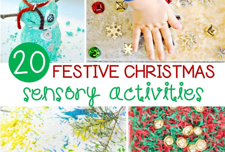 Fun Christmas sensory ideas for kids!