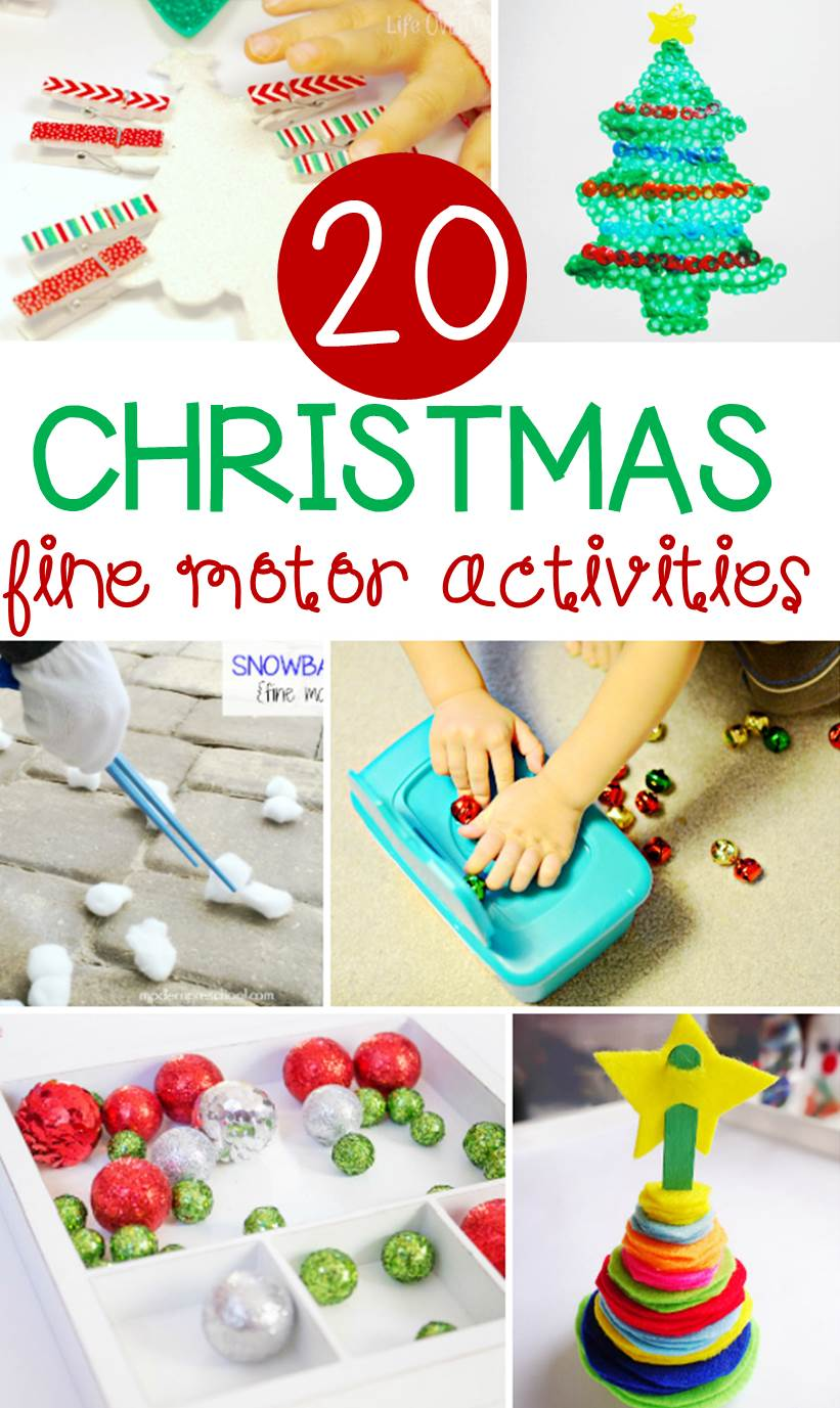 These 20 Christmas fine motor activities are great to add to your playful activities this season, and are sure to be a hit with your little ones!