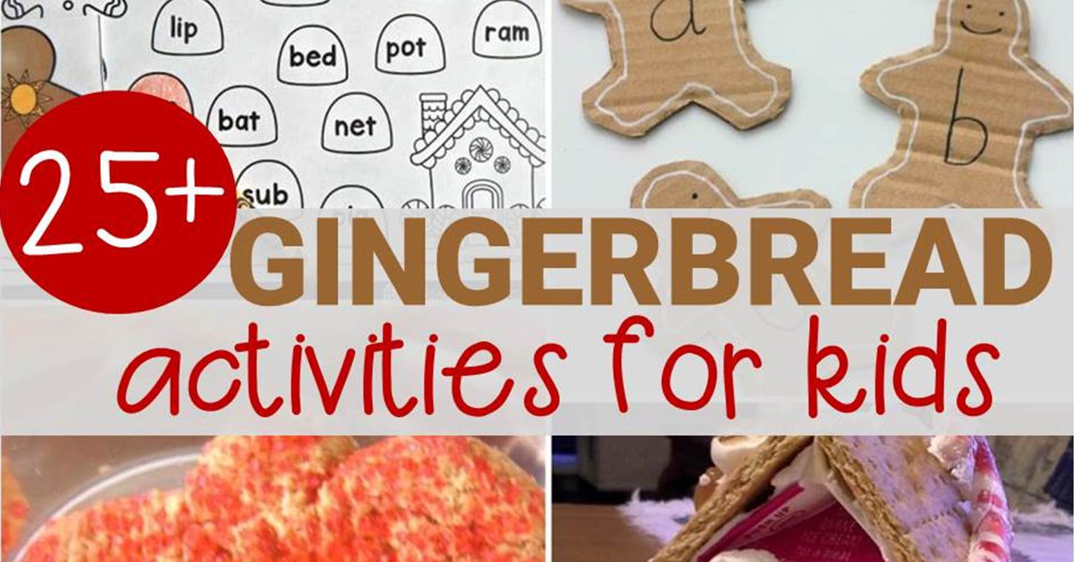 Fun gingerbread activities for kids!