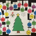 Christmas Alphabet Play Dough Mats: Free Printables