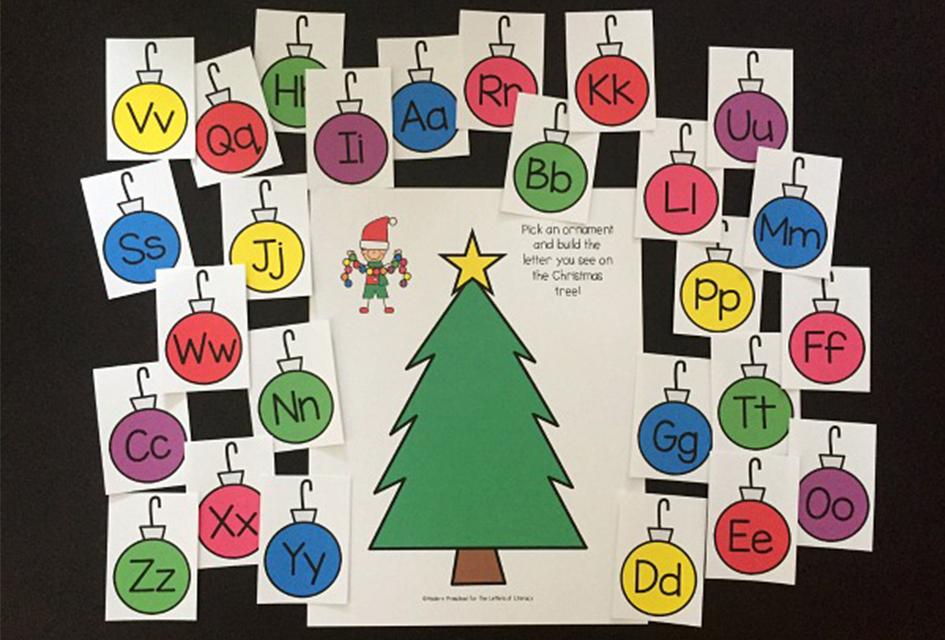 Christmas Alphabet Play Dough Mats!