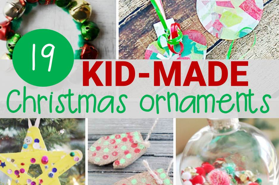 Festive and fun kid-made Christmas ornaments!
