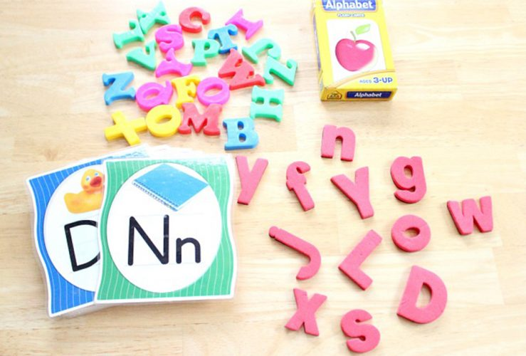 Letter Recognition Grab Bag with Free Printable