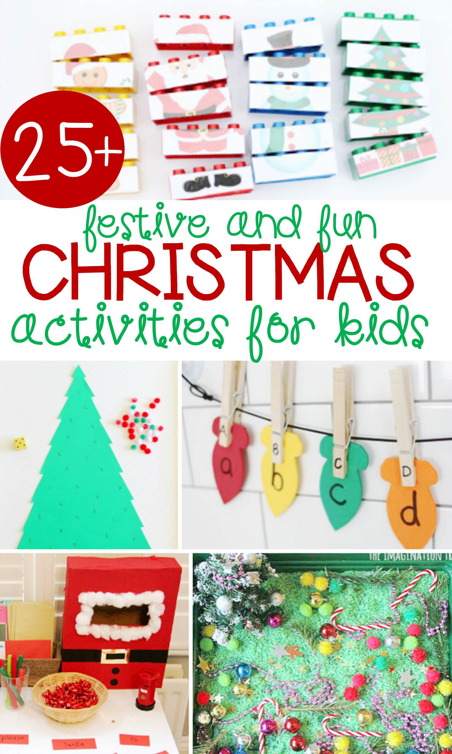 This collection of festive and fun Christmas activities for kids has something for everyone, from printables to crafts, art projects, sensory, and more!