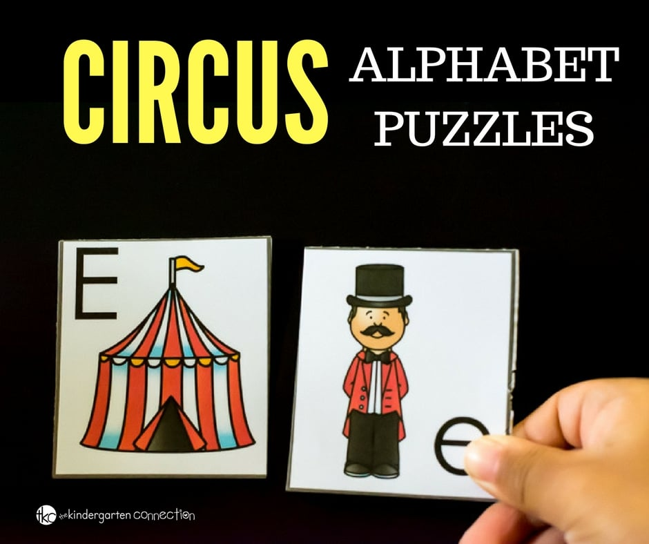 These circus alphabet puzzles are great for alphabet recognition, hands-on and they allow your child to work independently.
