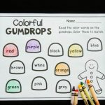 Gumdrop Color Words Printable