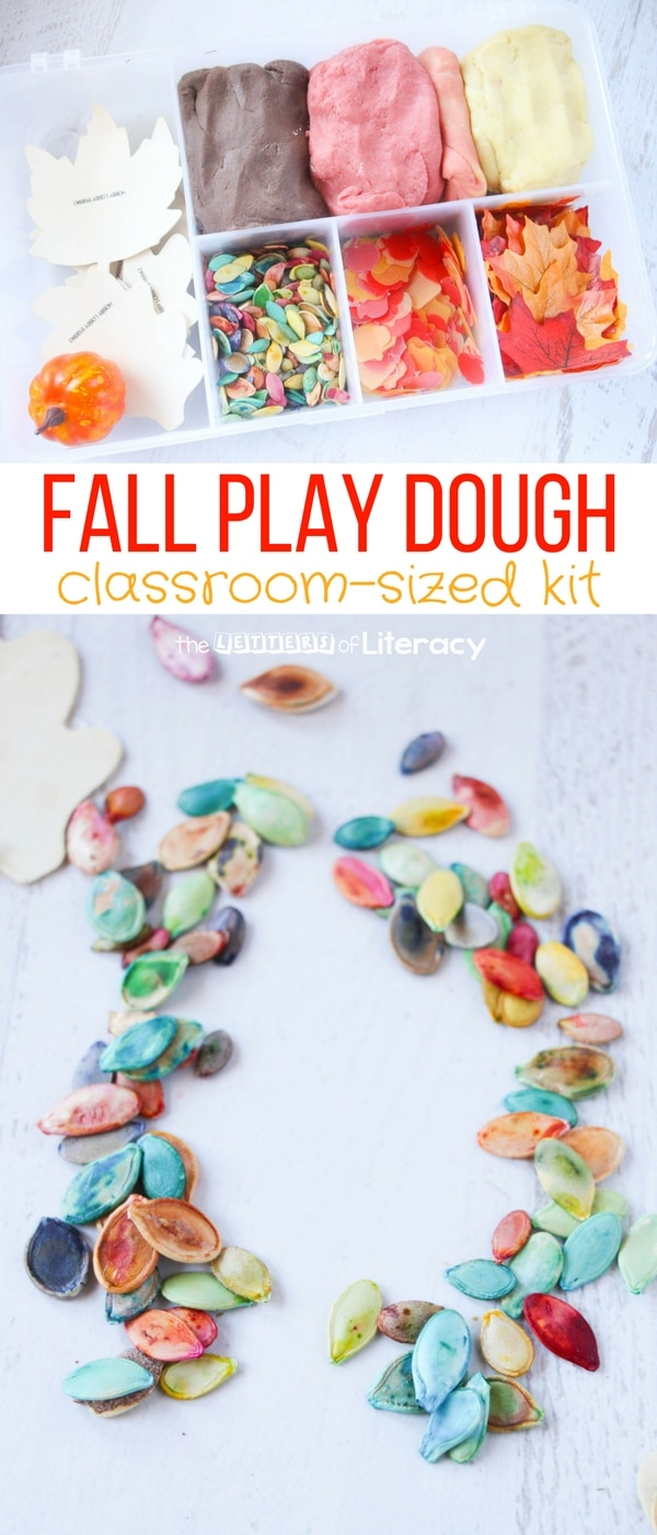 This fall play dough kit is an awesome activity to add to classroom sensory play. So many fun ways for kids to be creative!