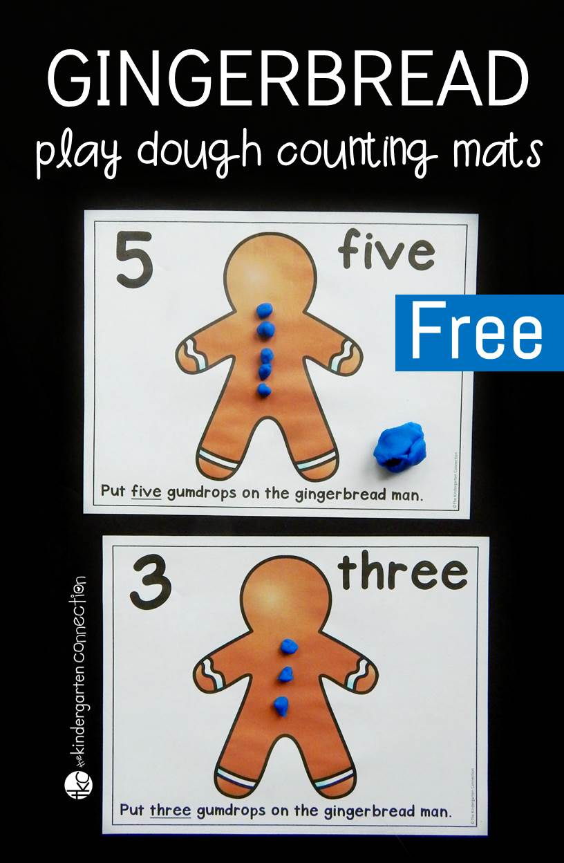 These free gumdrop counting play dough mats make a great Christmas math center in preschool and kindergarten. Students will have lots of fun while working on counting, fine motor skills, and even addition!