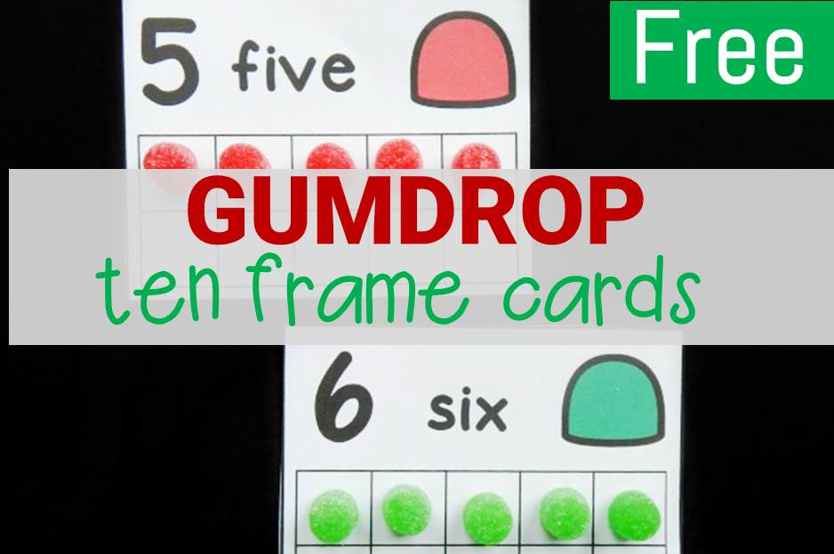 Counting Gumdrops Ten Frame Cards