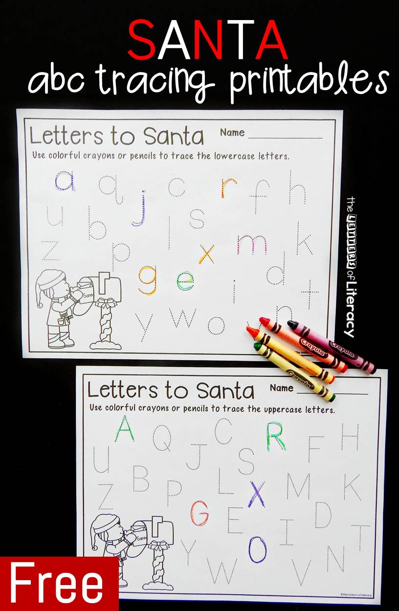 Letters to Santa Printable Tracing Sheets
