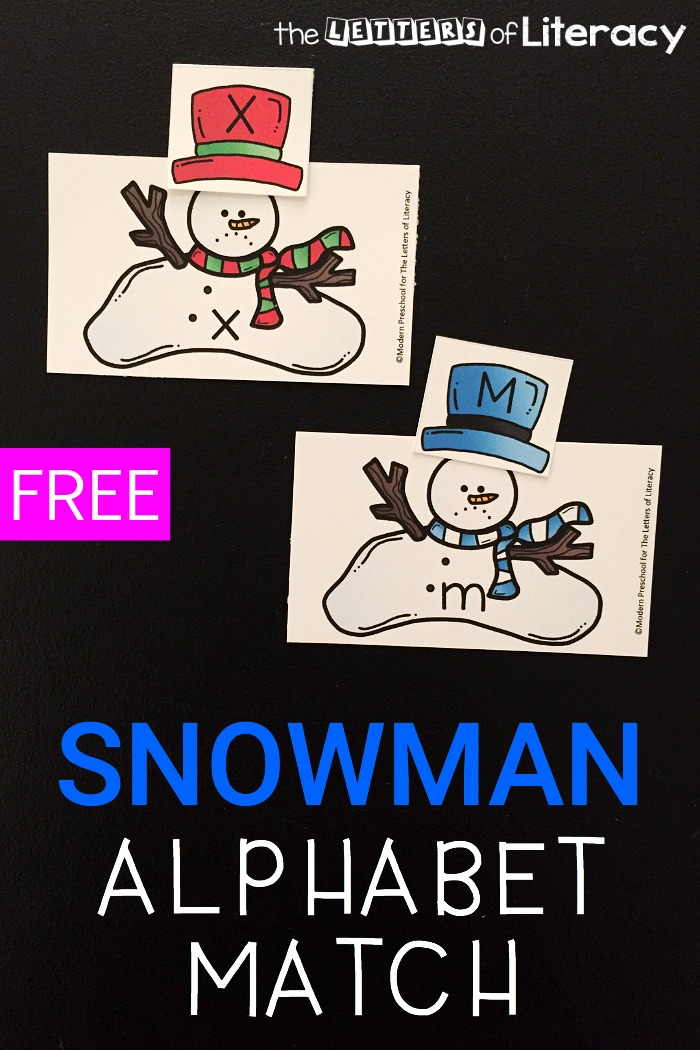 Work on letter matching with these alphabet match melted snowman cards! Use them to practice uppercase and lowercase letters and alphabet recognition.