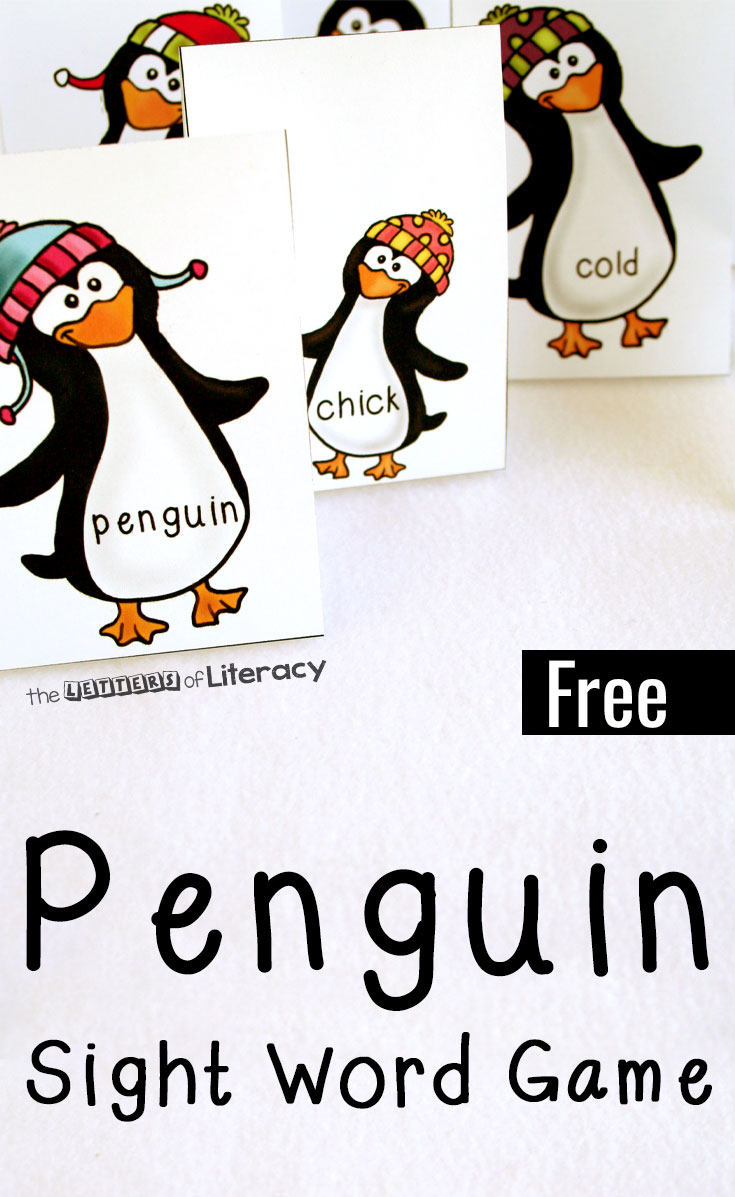 Penguin Sight Word Game, FREE Kindergarten Printable!