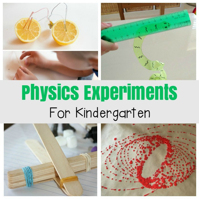 11 Awesome Physics Experiments For Kids The Kindergarten