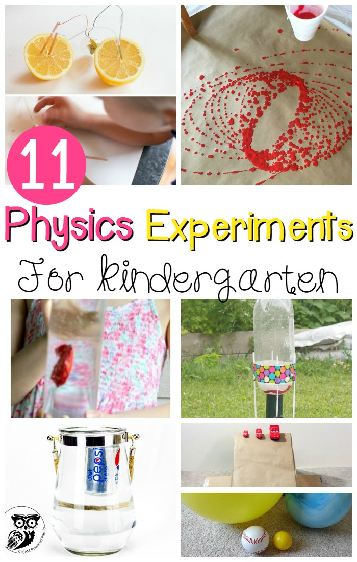11 Awesome Physics Experiments for Kids - The Kindergarten ...