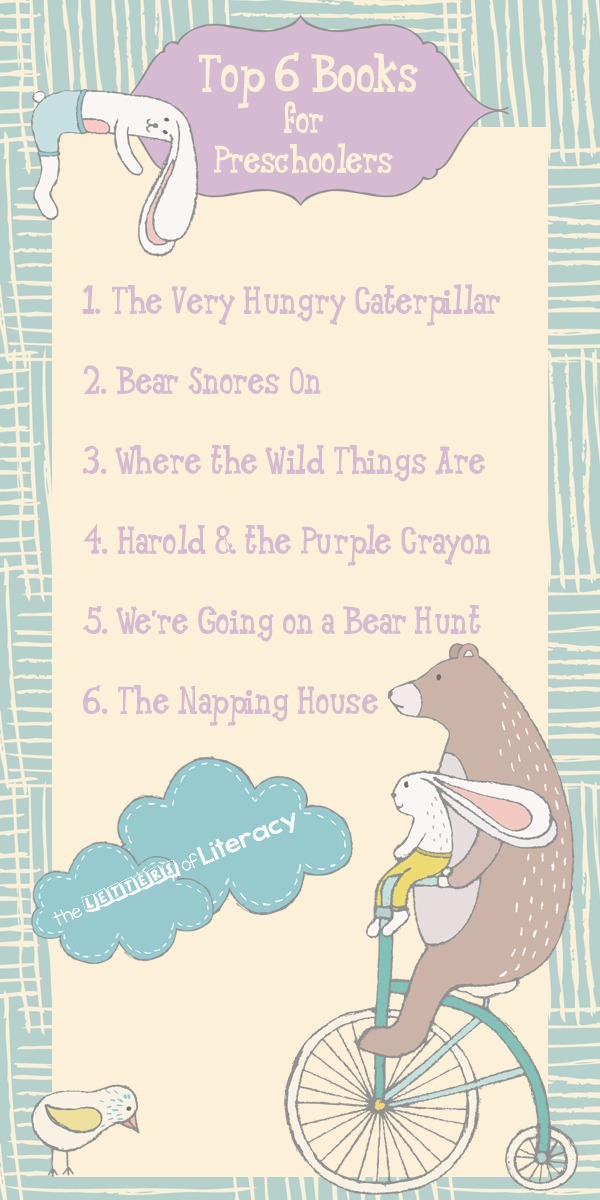 If you are a preschool teacher or parent, you will definitely want to be sure these top 6 books for preschoolers are on your shelf!