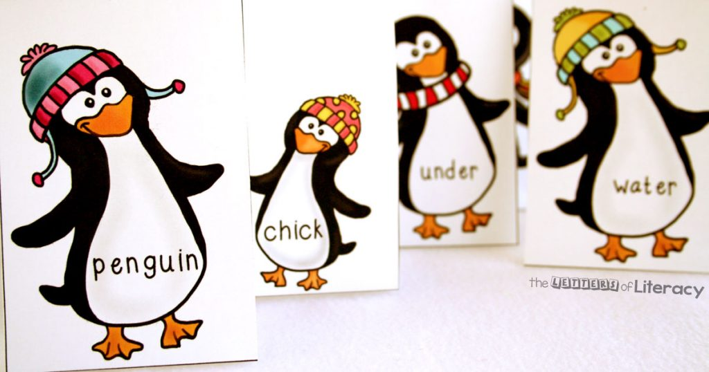 Penguin Themed Sight Word Game