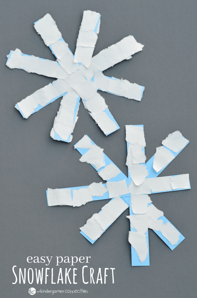 This paper snowflake craft is an easy winter craft for kids especially toddlers, preschoolers, and kindergartners.