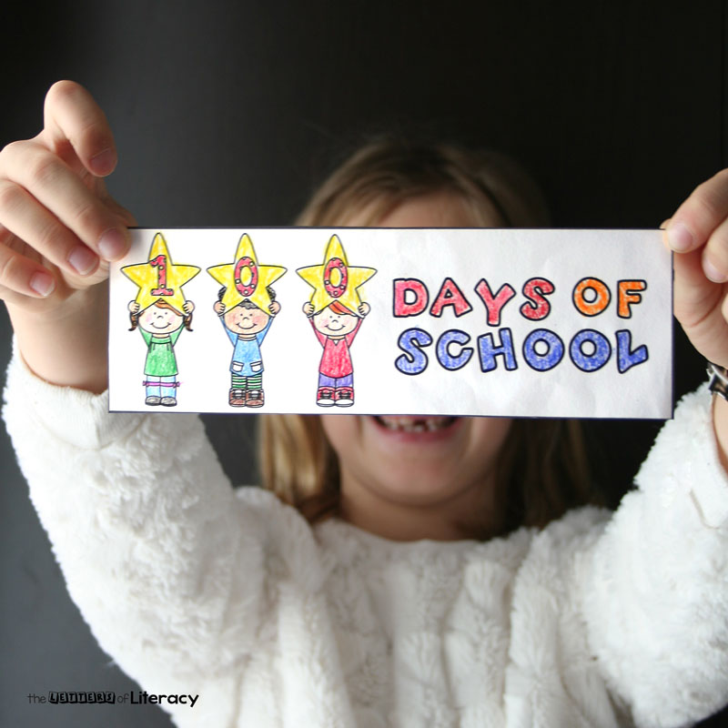 The 100th Day of School is already right around the corner! Here's 10 reading activities to celebrate, and some free 100th day of school bookmarks to color.