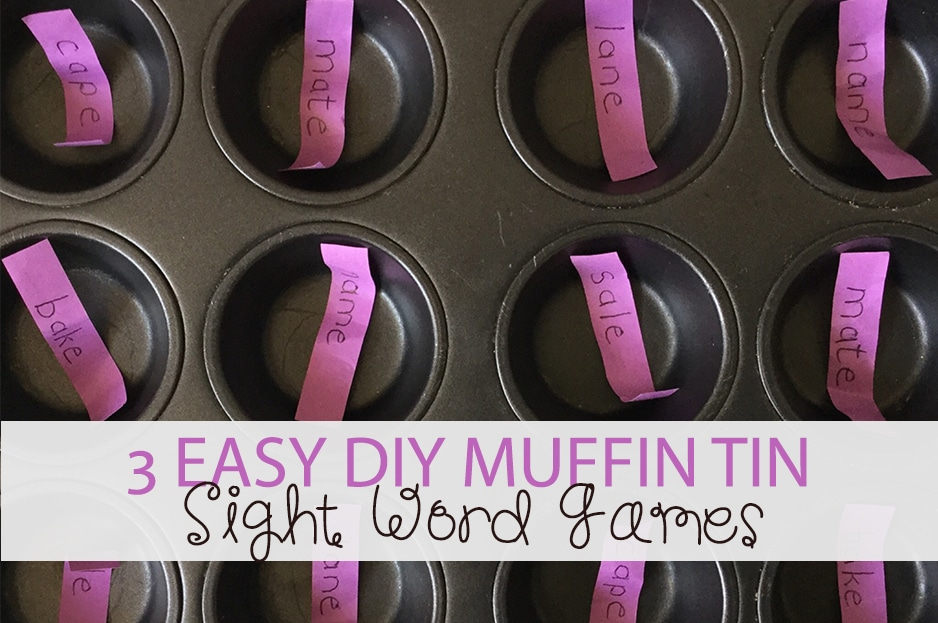 3 Easy DIY Muffin Tin Sight Word Games